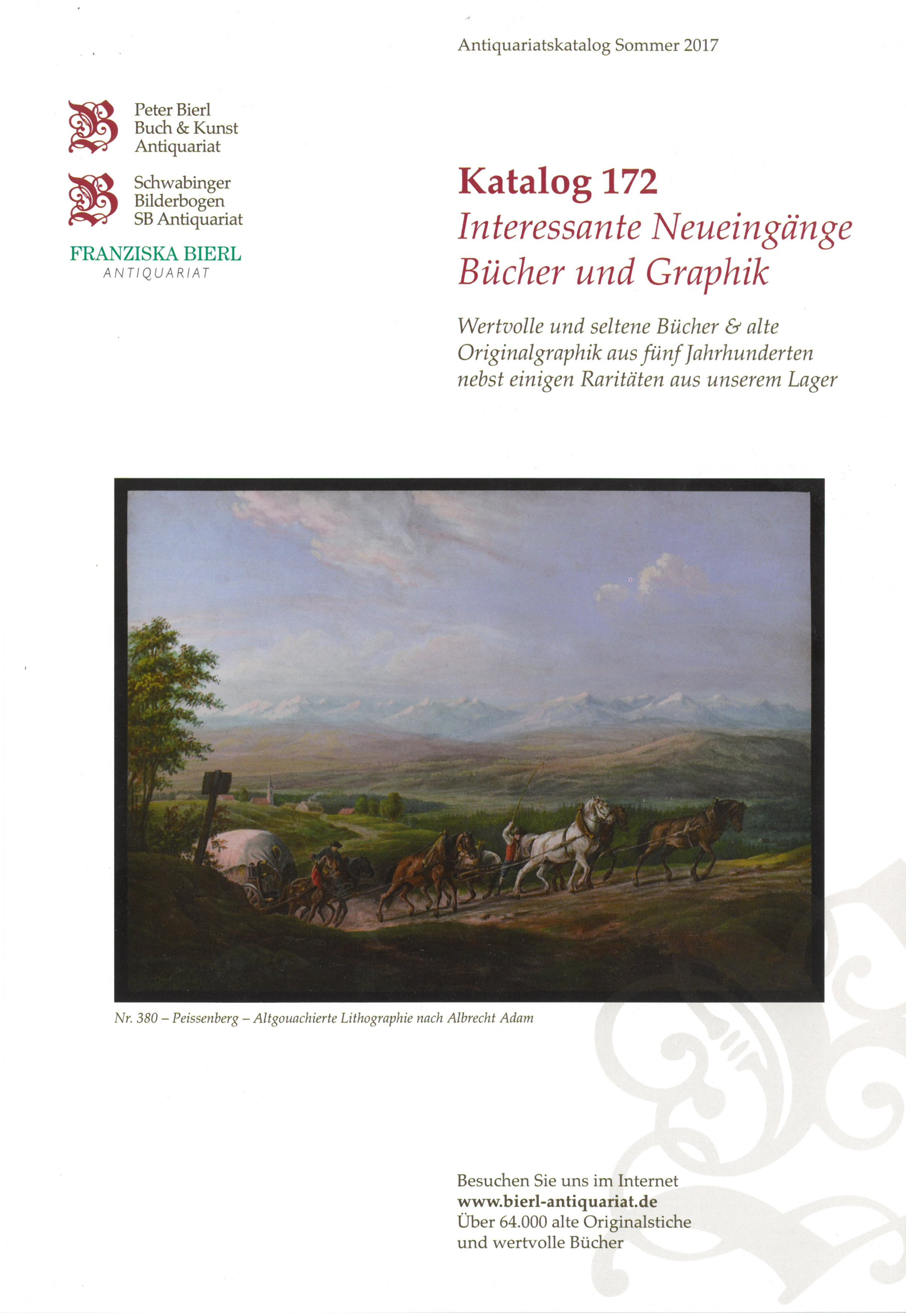 Katalog 172 - Interessante Neueingänge