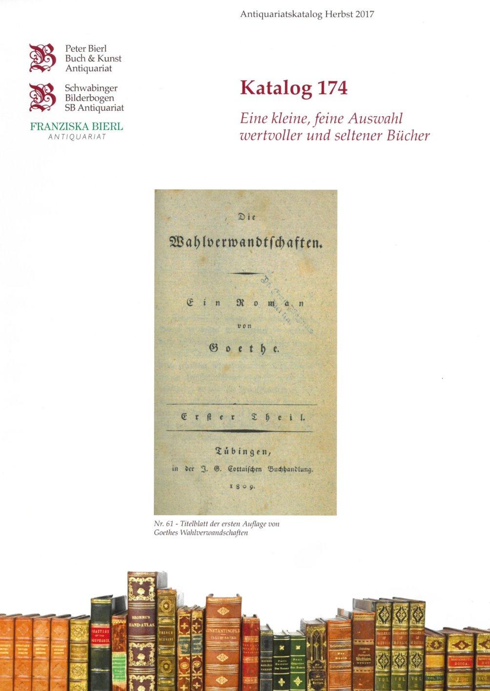 Katalog 174 - Wertvolle Bücher